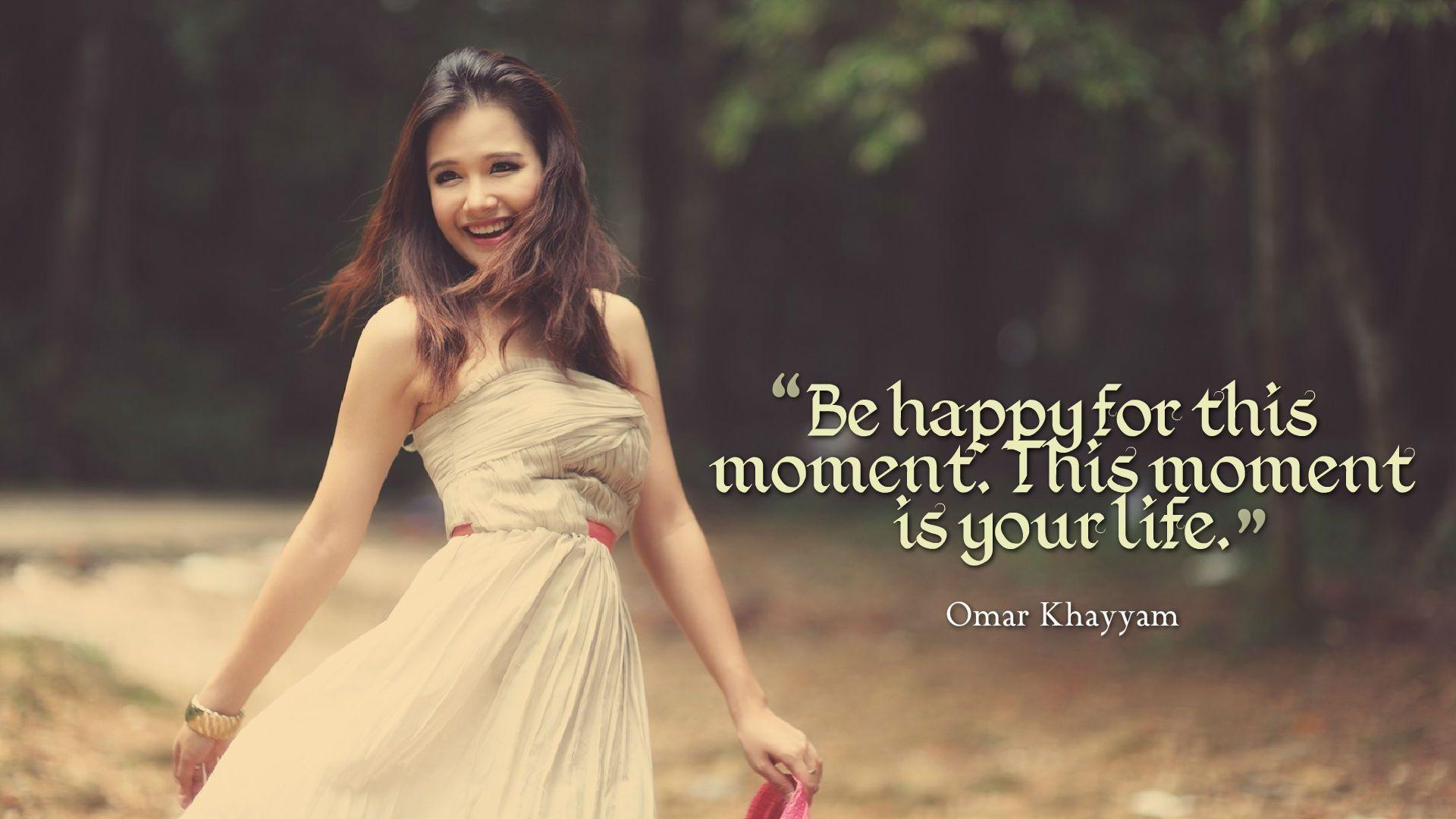 Happy Girl Quotes Wallpapers - Wallpaper Cave