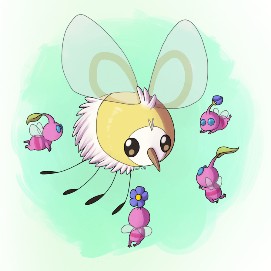 Cutiefly and Pikmin by Quarbie on DeviantArt