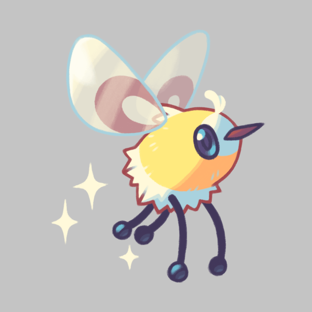 "Cutiefly "" My new favorite Pokemon ;-; [PROCESS VIDEO FOR CUTIEFLY ..."