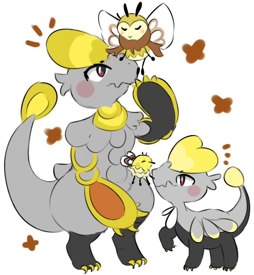 Ribombee, Jangmo-o, and Hakamo-o | pokemon | Pinterest | Pokemon sun ...