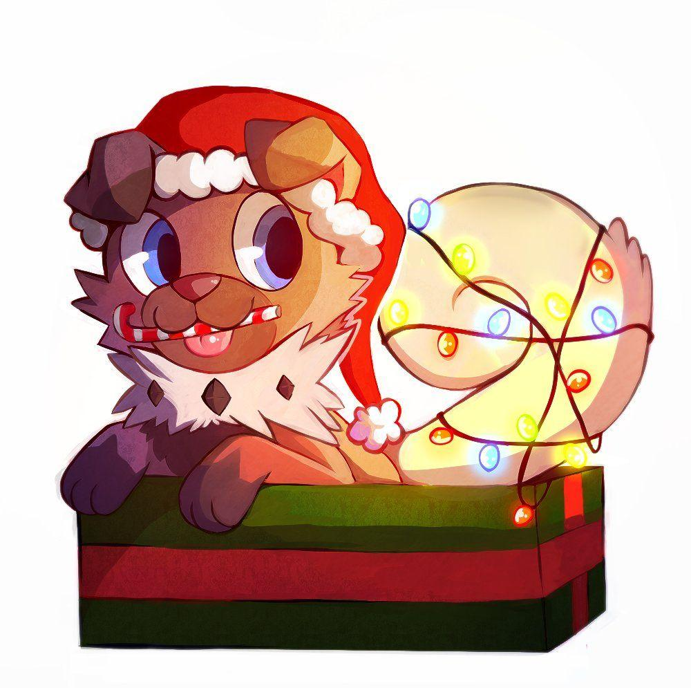 Rockruff the festive Puppy! Drawn by Cynoiz. : Pokemonart