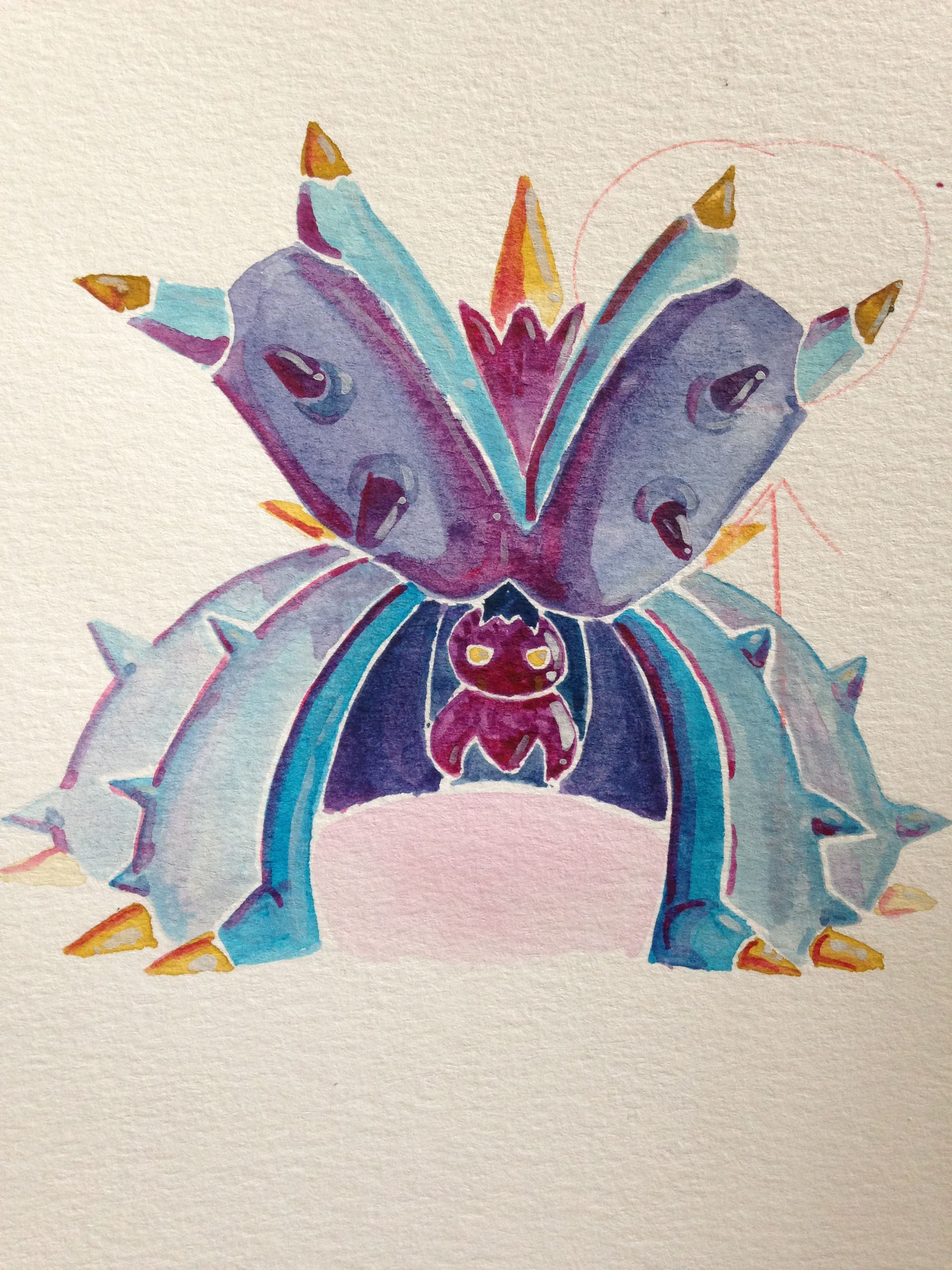 Toxapex from Pokémon sun moon watercolor art | Sketchbook Inspo ...