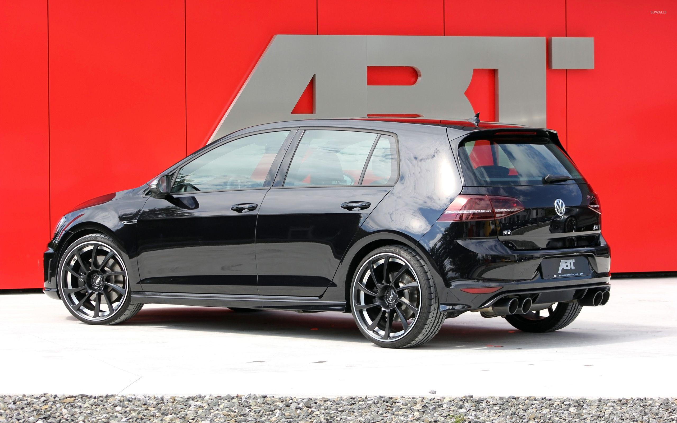 Black 2014 ABT Volkswagen Golf Mk7 back side view wallpaper - Car ...