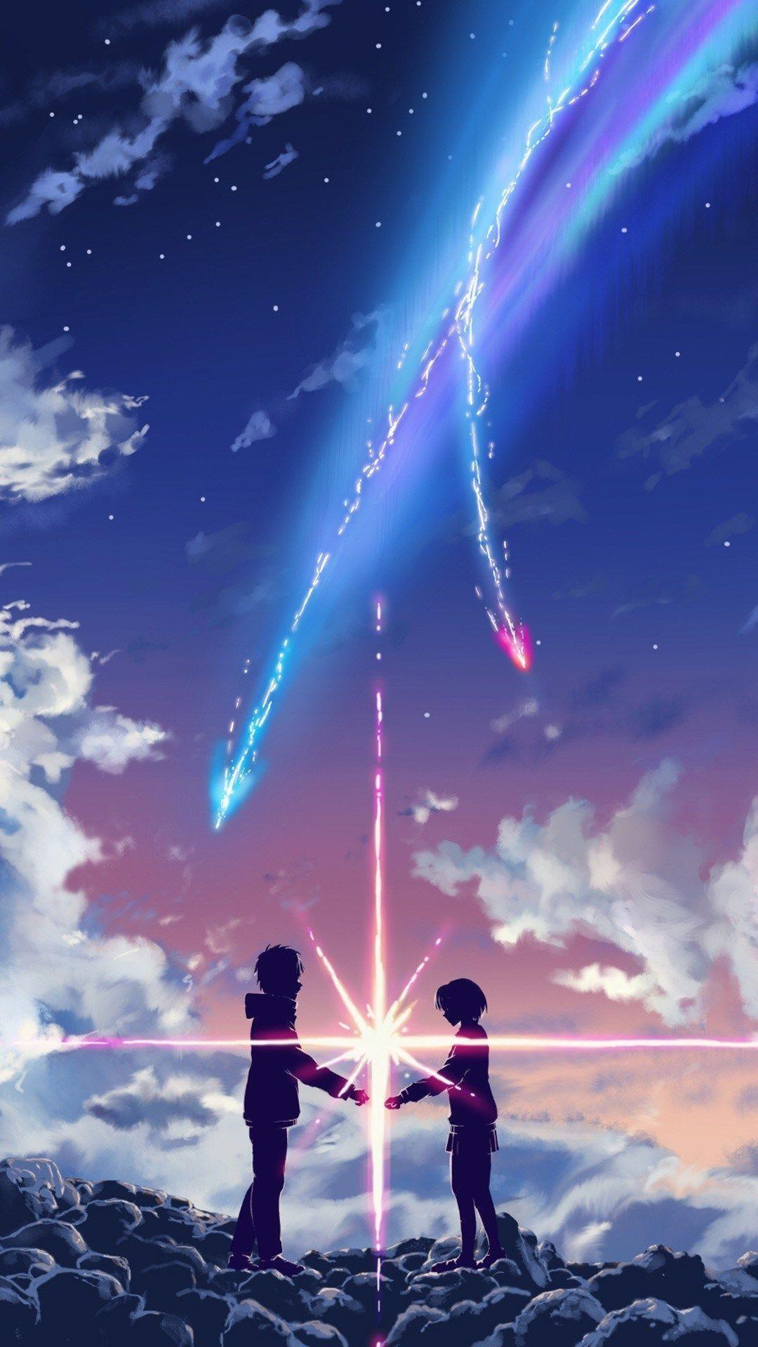 anime aesthetic iphone wallpapers Fresh Your Name Movie Touching