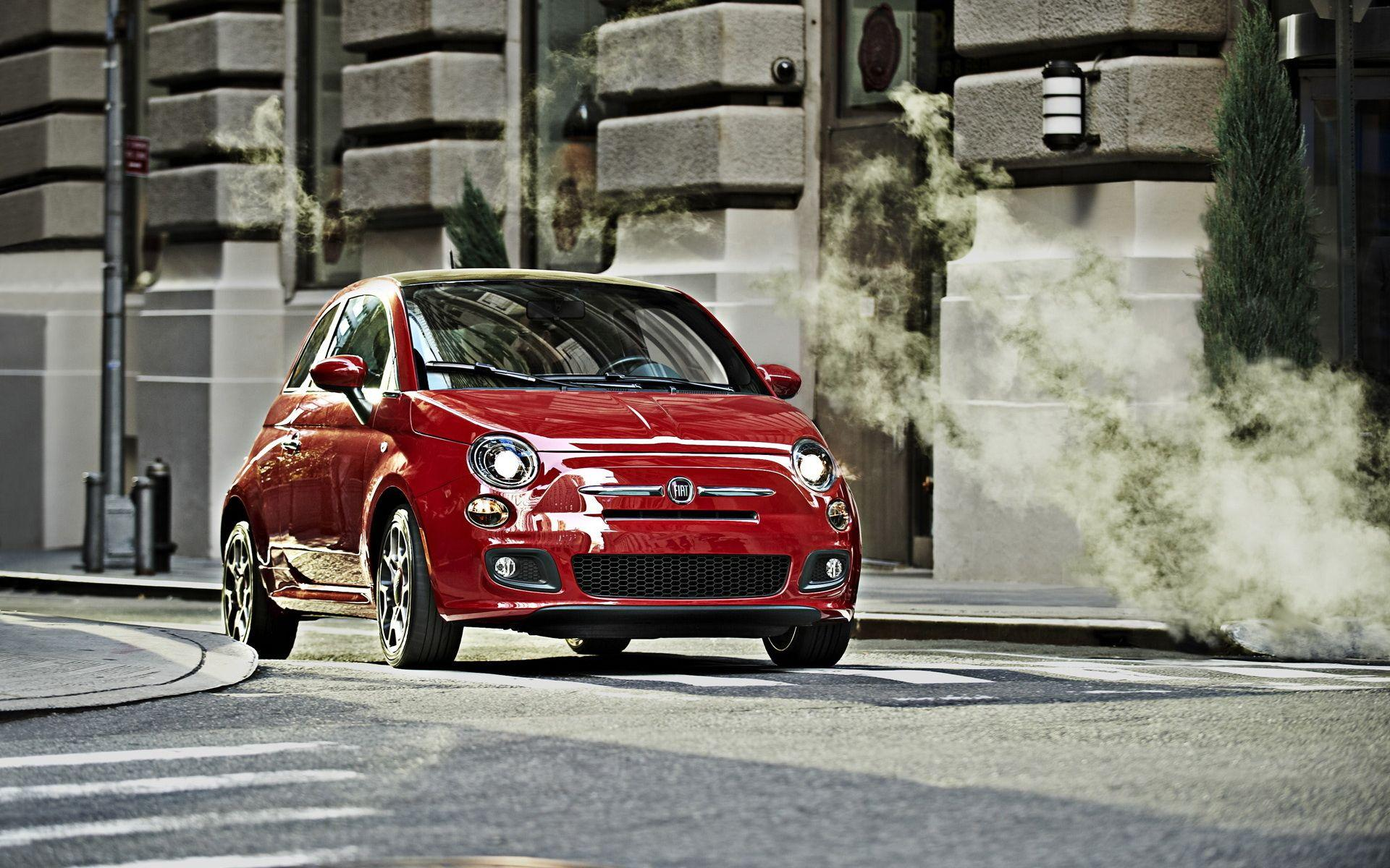 Fiat-500 red wallpapers and images - wallpapers, pictures, photos