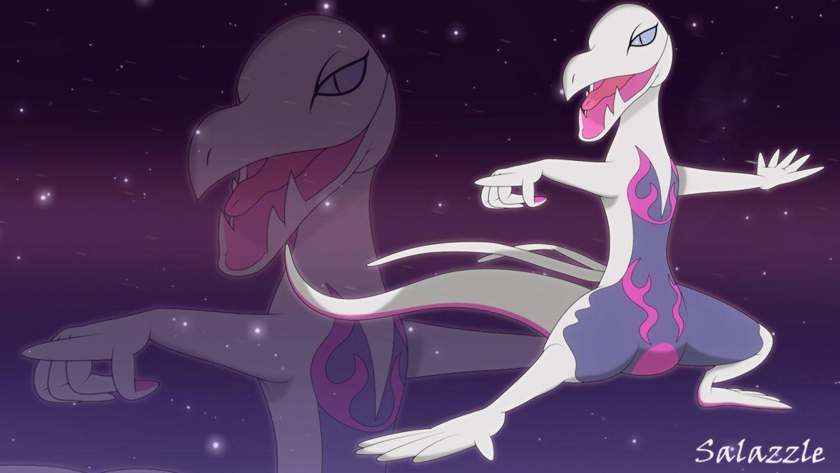 Shiny Salazzle wallpaper by Elsdrake on DeviantArt
