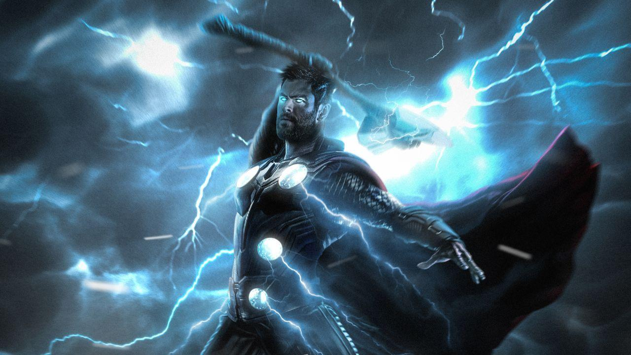 Wallpapers Thor, Lightning Strike, HD, Creative Graphics,