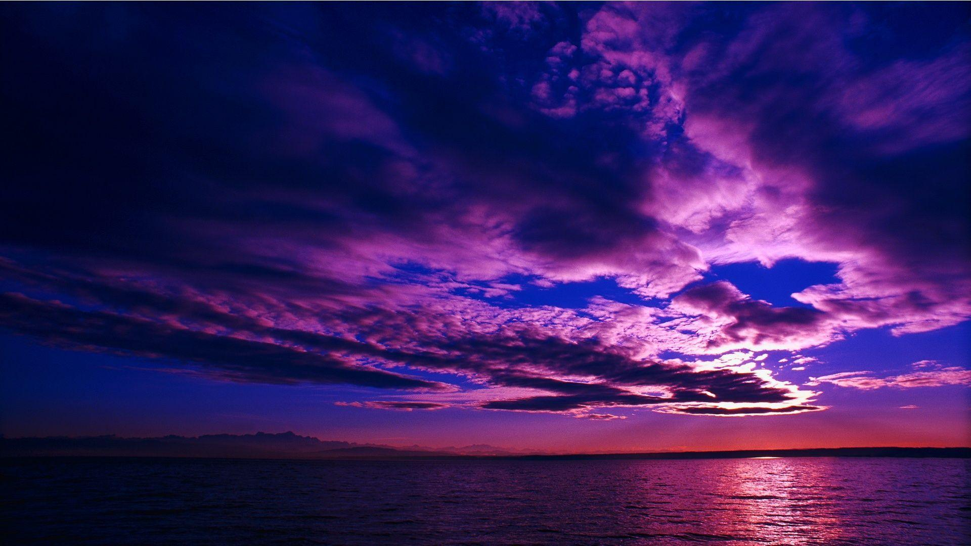 Sunset Purple Wallpapers Wallpaper Cave