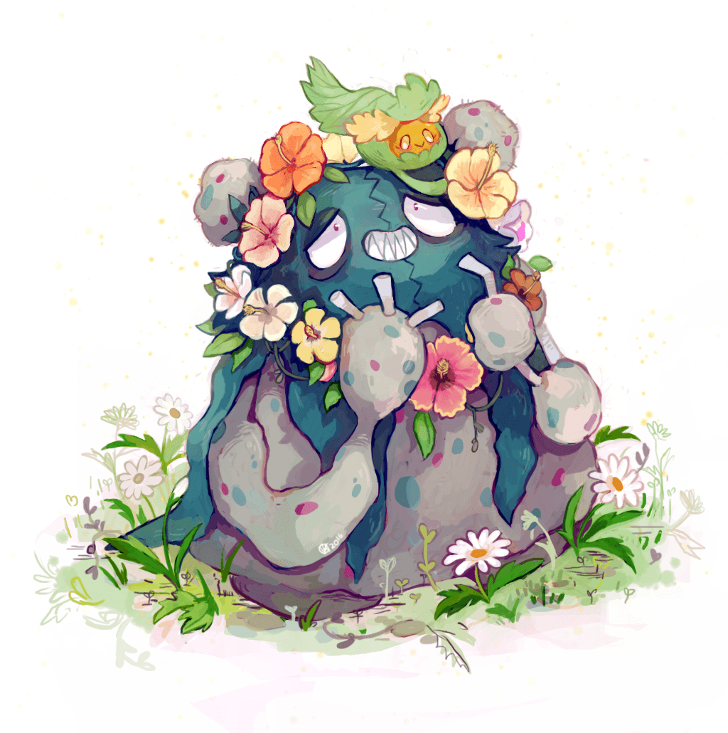 krithidraws: A Comfey flower crown for a flawless friend pokemon