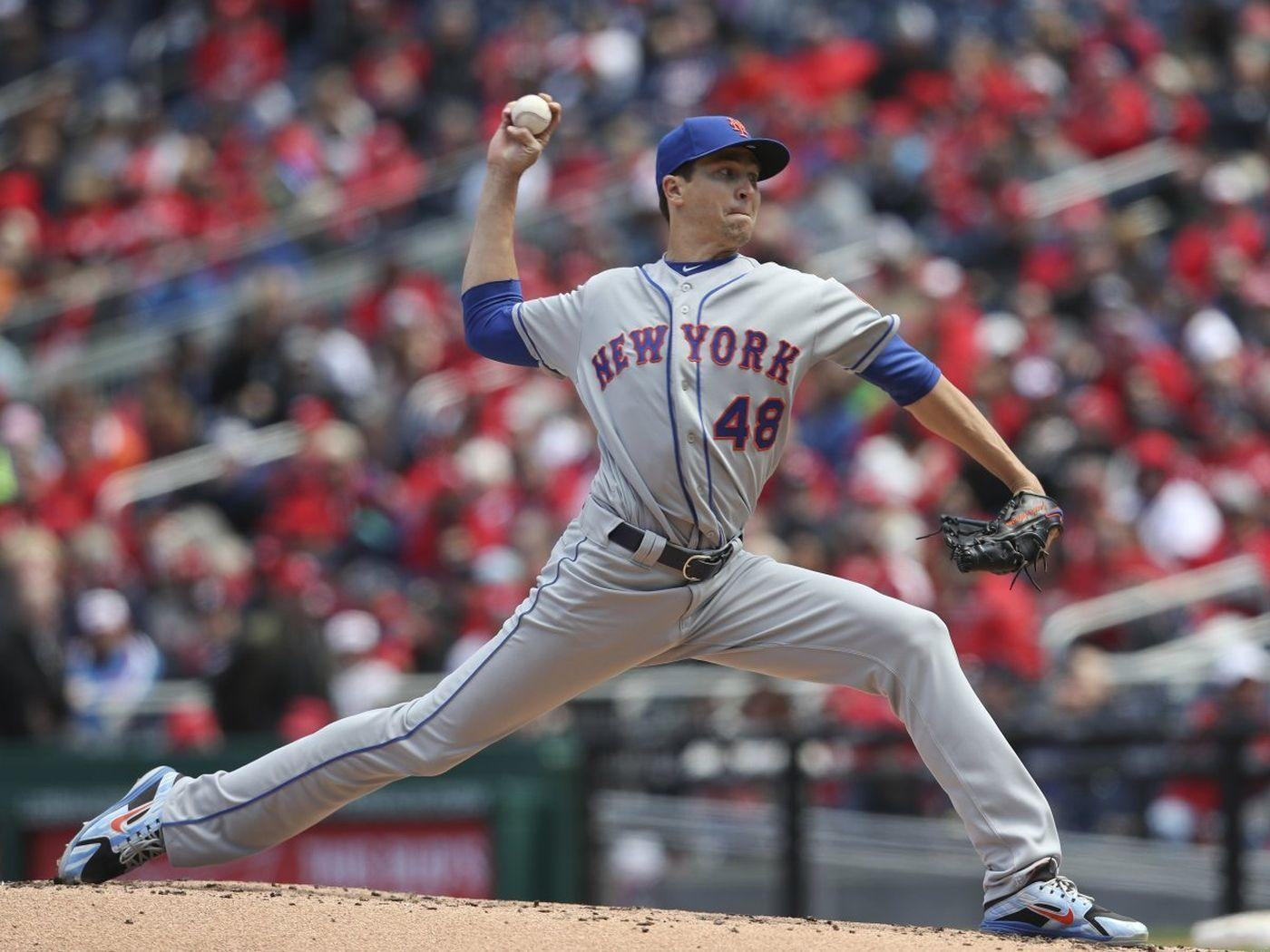 Mets' Jacob deGrom finds way through difficult sixth inning: 'He