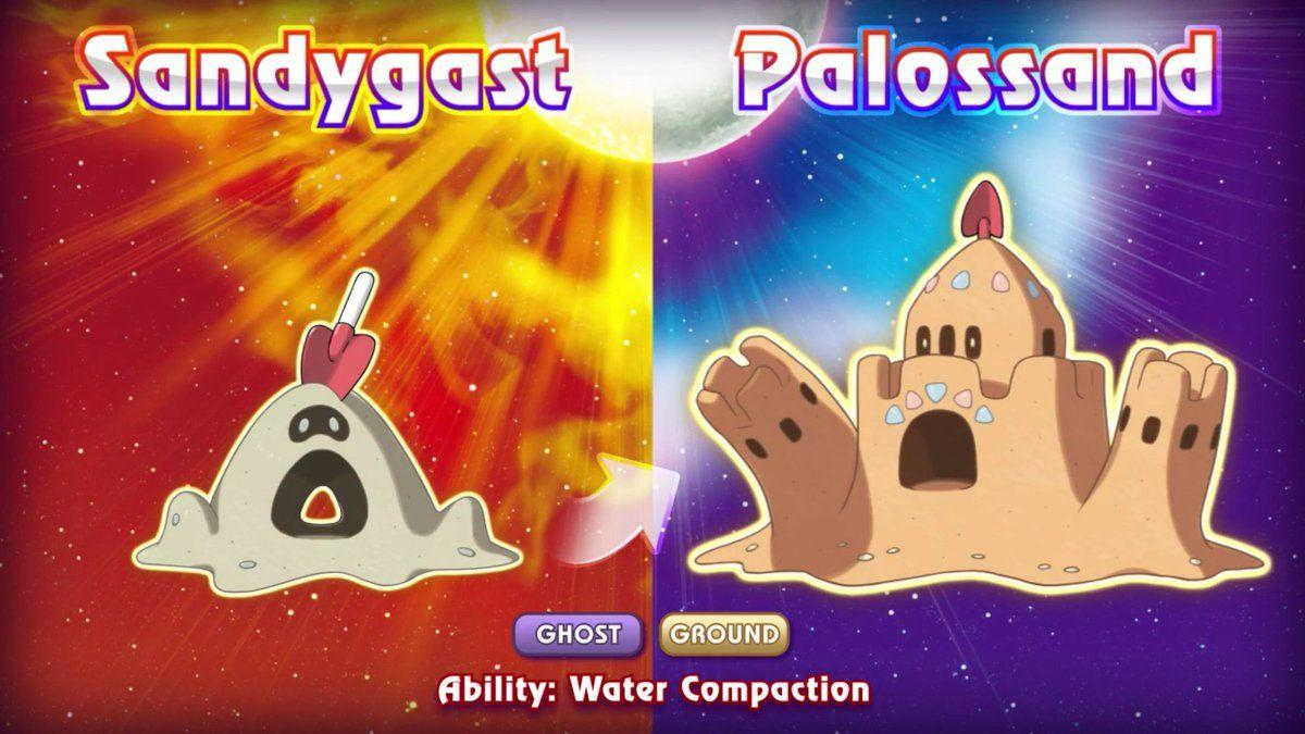 PokéTrends on Twitter: Sandygast & Palossand were revealed for