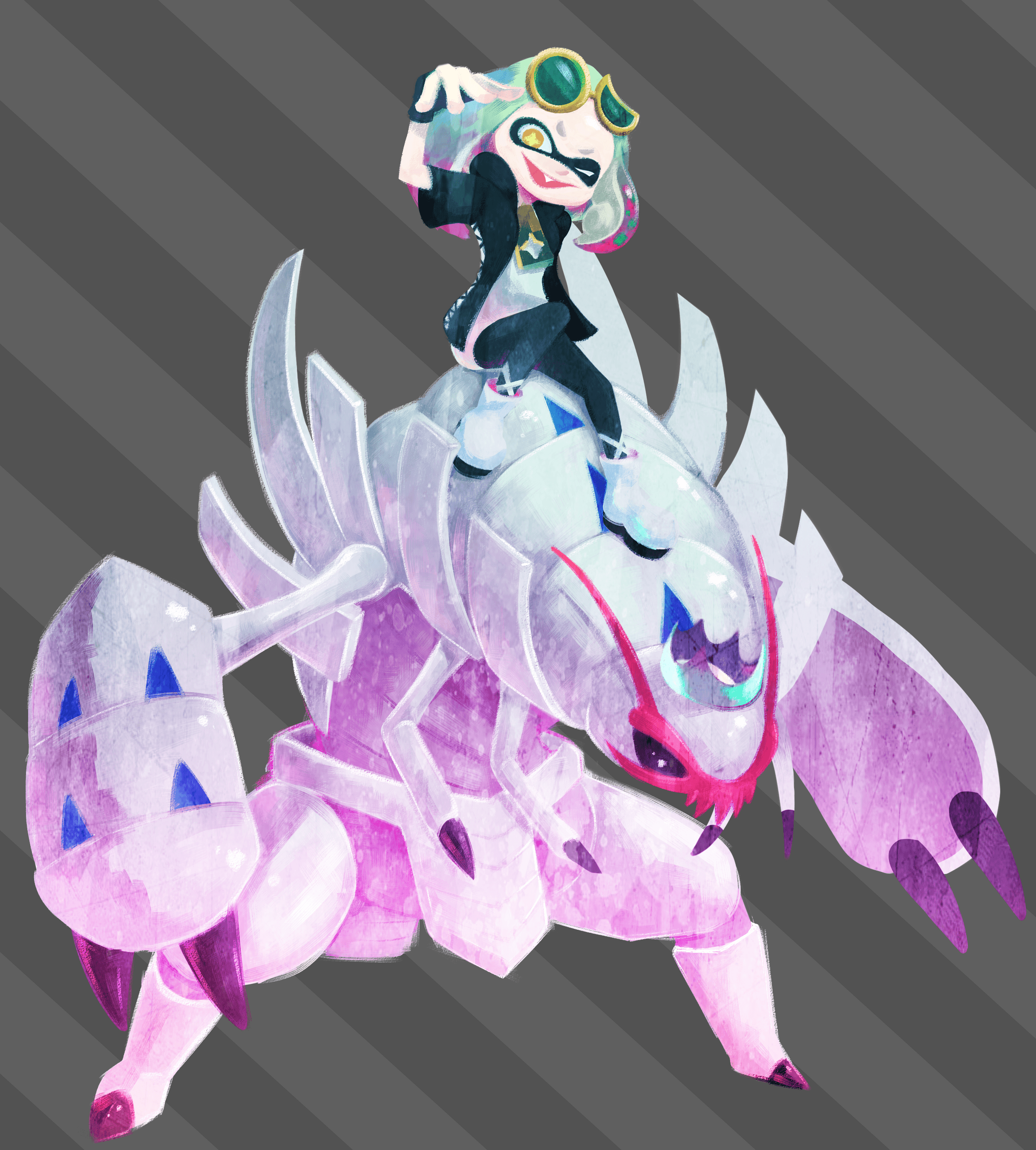 Old drawing of Pearl and Golisopod, figured this sub would