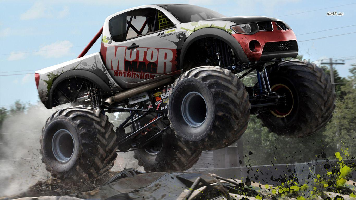 monster truck Wallpaper and Background Image | 1366x768 | ID:444085 ...
