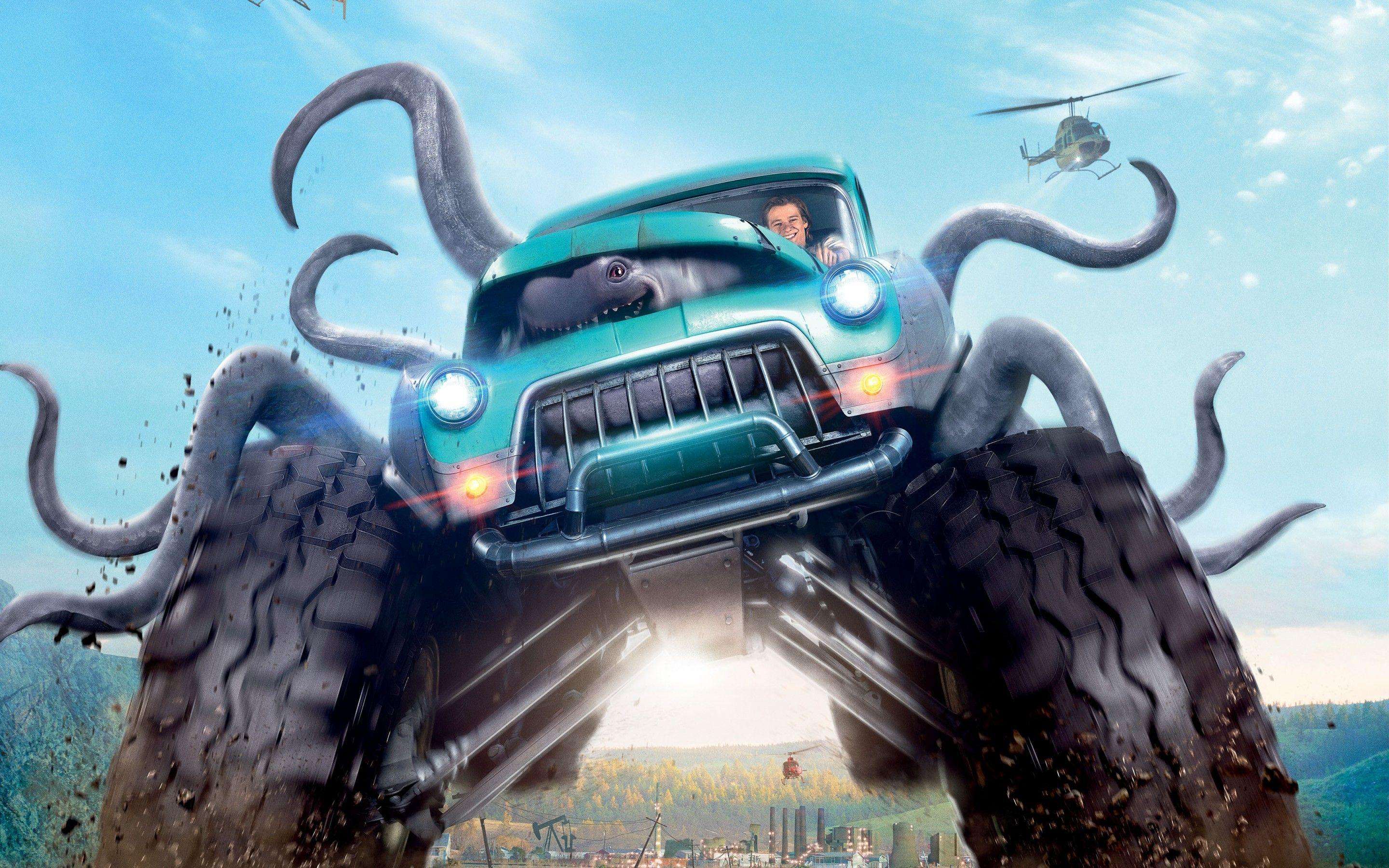 Wallpaper Monster Trucks, Animation, 2016, Movies, #4084
