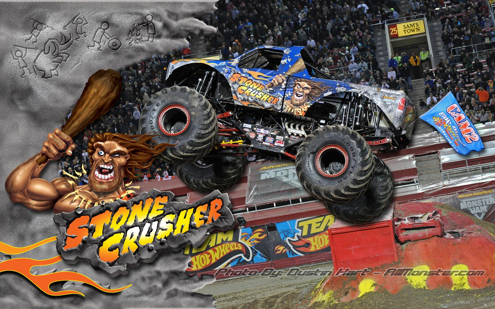 Stone Crusher Monster Truck Wallpaper