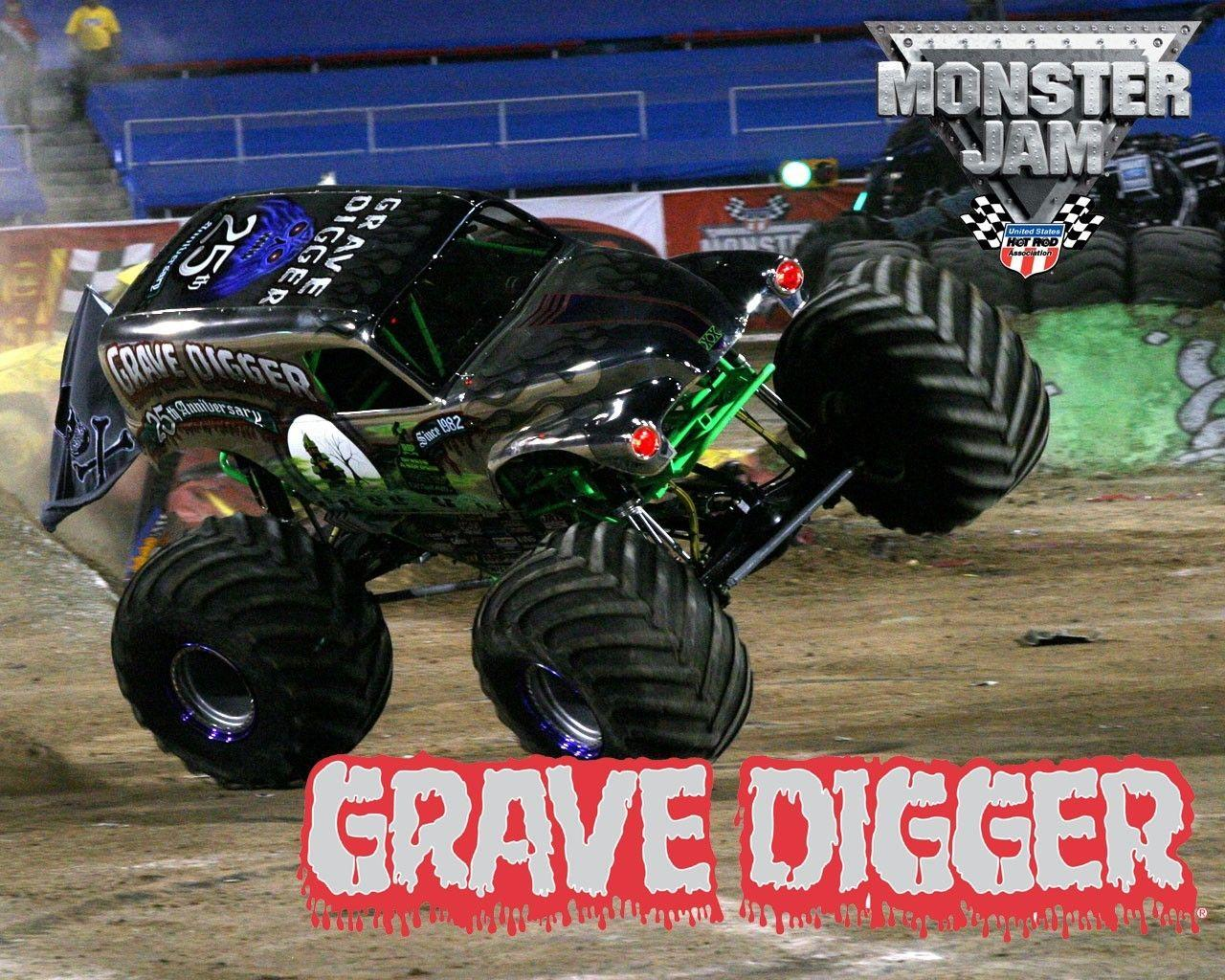 Cars monster truck grave digger jam wallpaper | AllWallpaper.in #120 ...
