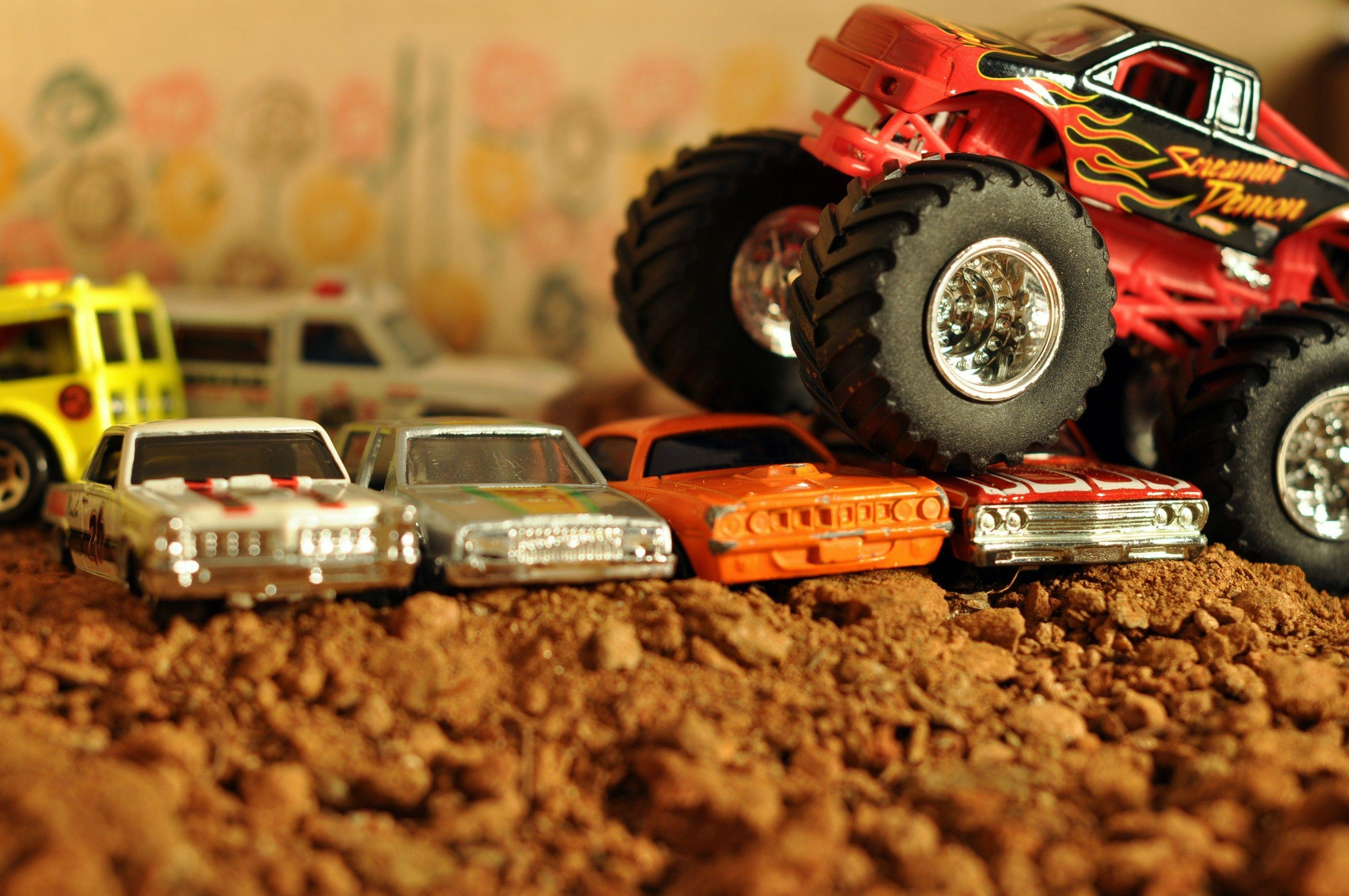 toys car monster trucks wallpaper and background