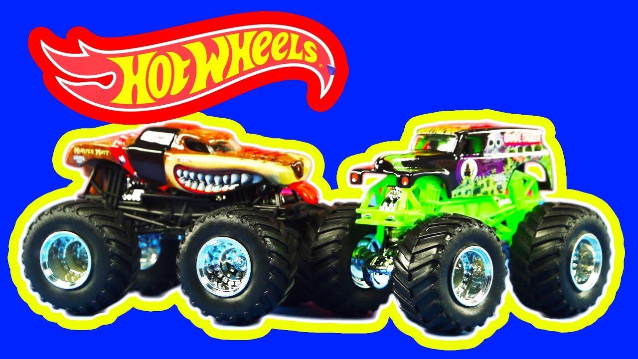HOT WHEELS Monster Jam Off Road Monster Trucks Grave Digger and ...