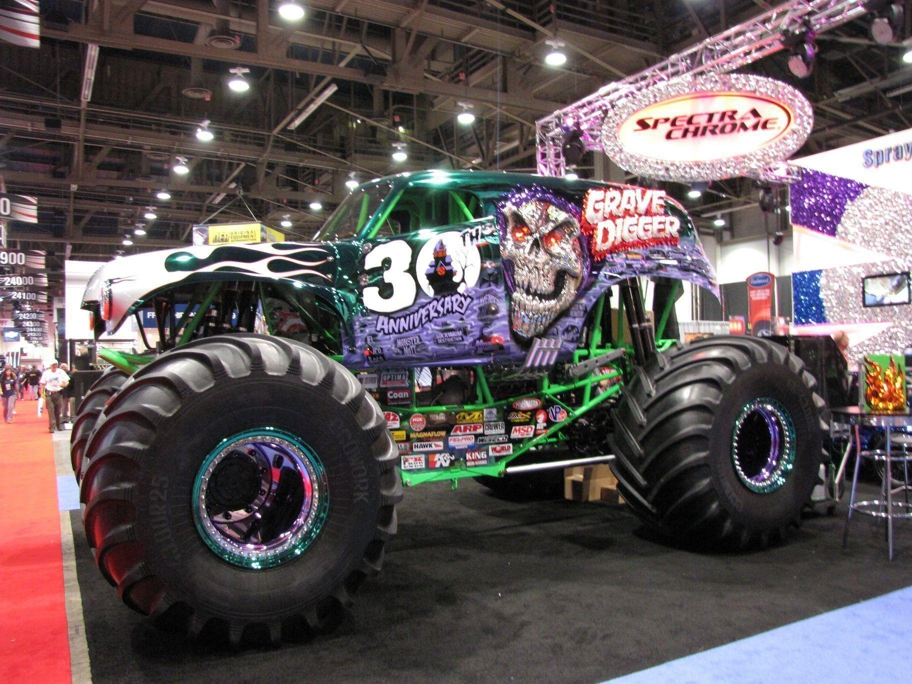 monster truck | Grave Digger Wallpapers - Wallpaper Cave | Monster ...