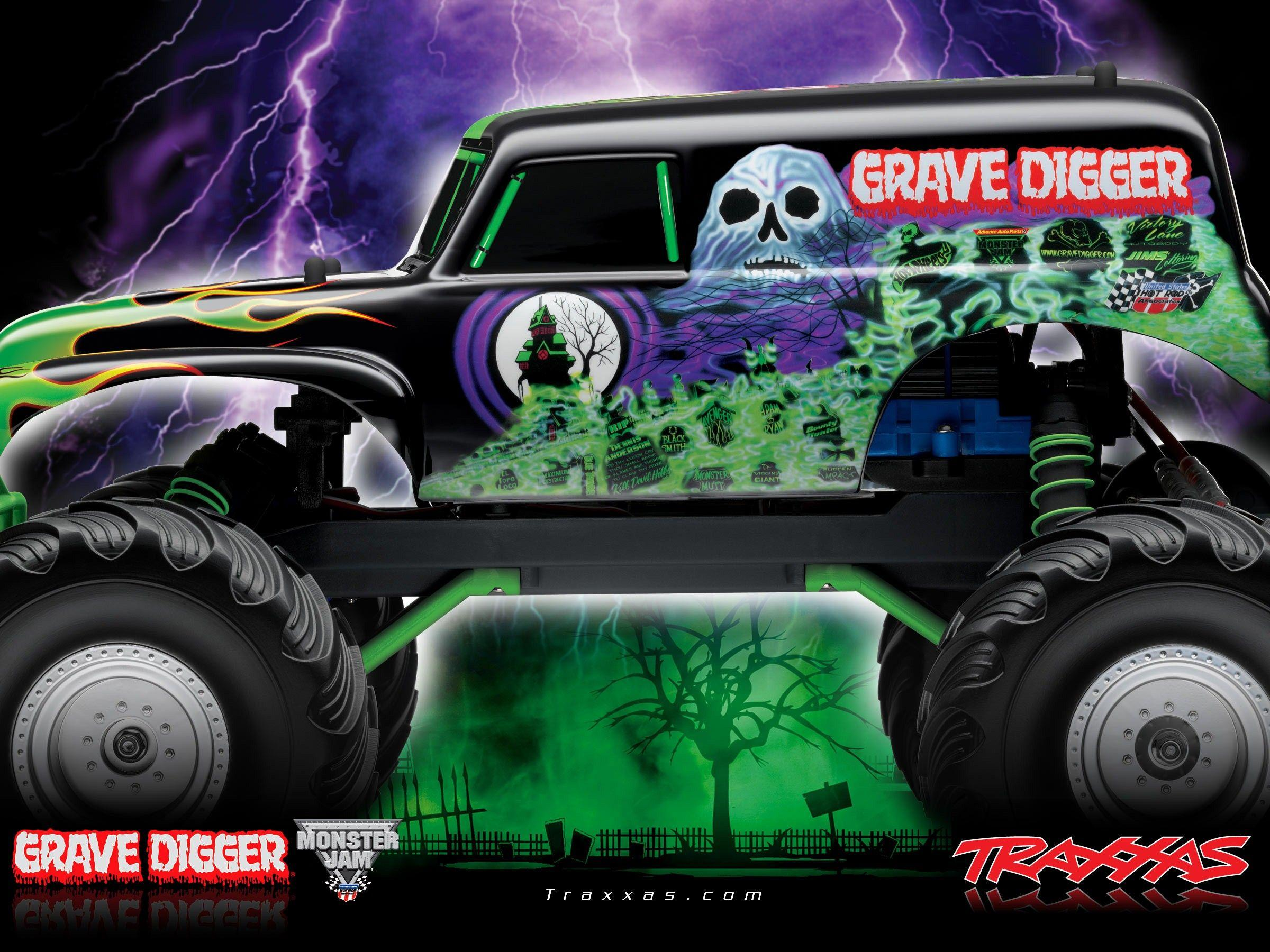 Drawn truck grave digger monster truck - Pencil and in color drawn ...
