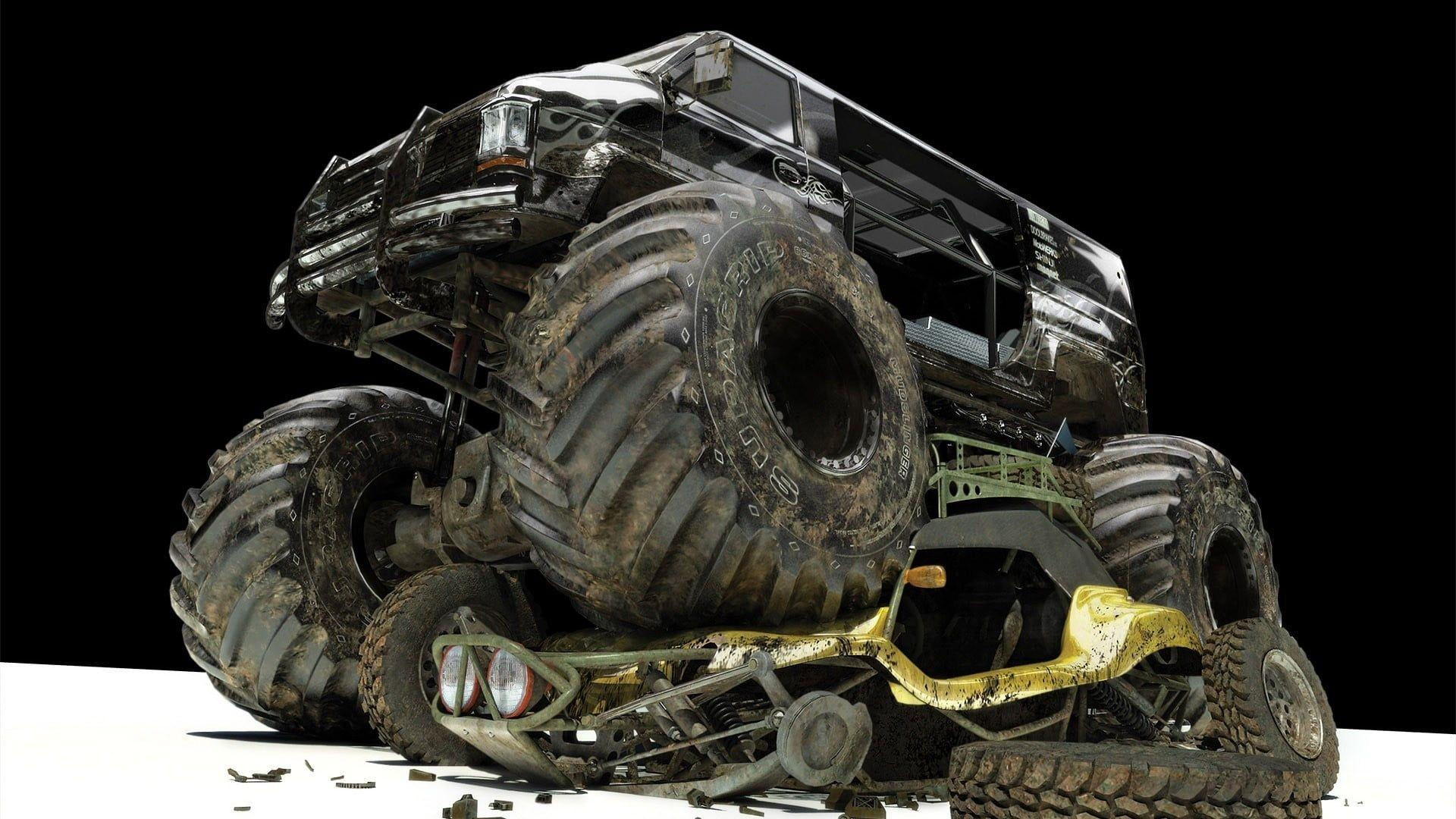 Black monster truck, car, monster trucks HD wallpaper | Wallpaper Flare