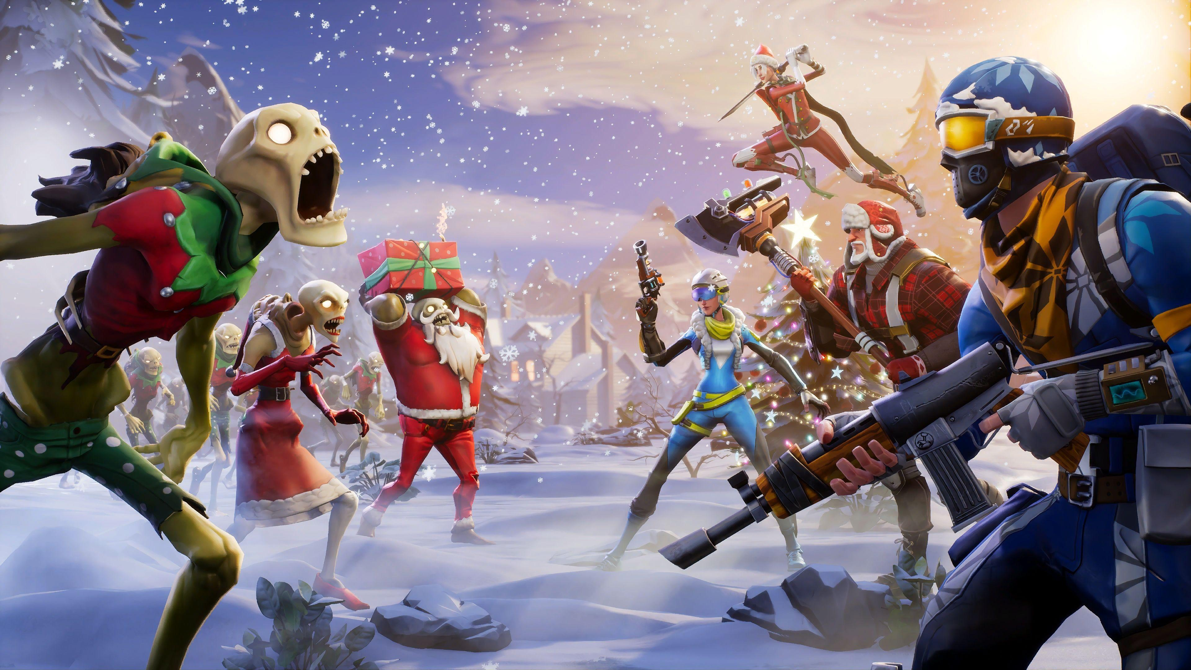 35 Best Free Fortnite Christmas Desktop Wallpapers   WallpaperAccess