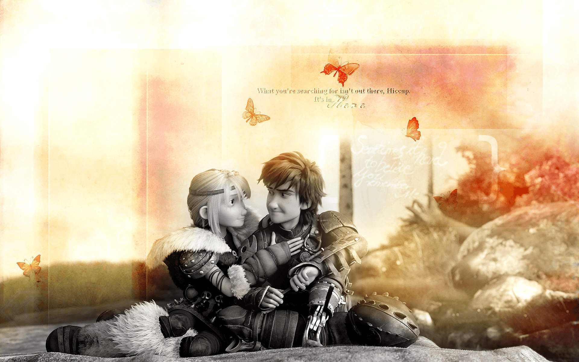 Hiccup And Astrid Wallpapers Wallpaper Cave