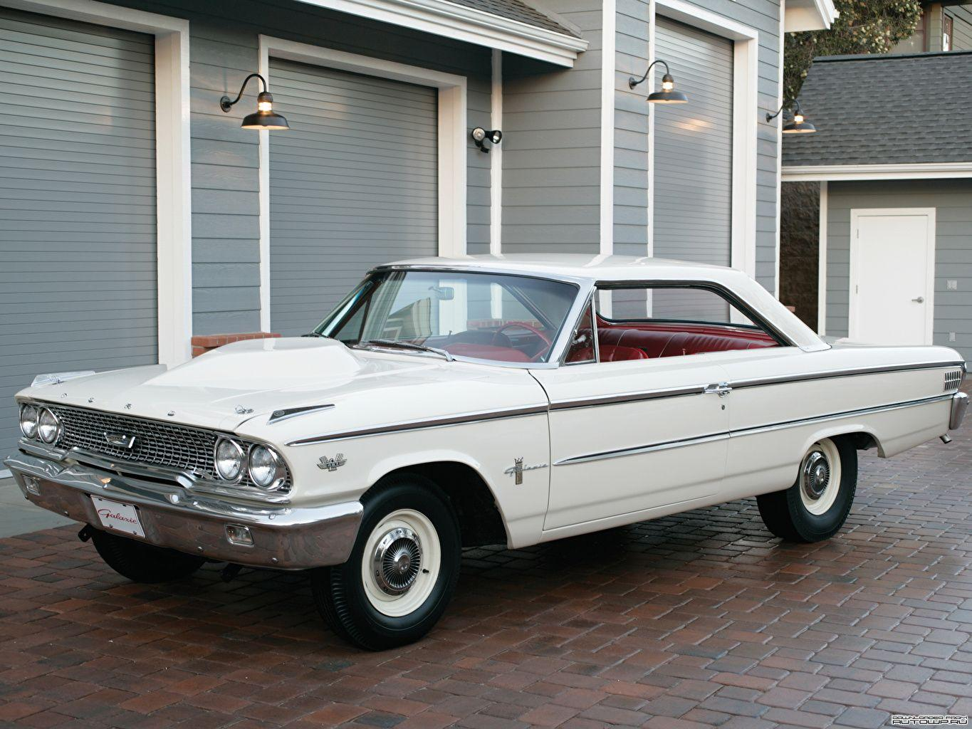 Wallpaper Ford Galaxie 500 Factory Lightweight 1963 Cars