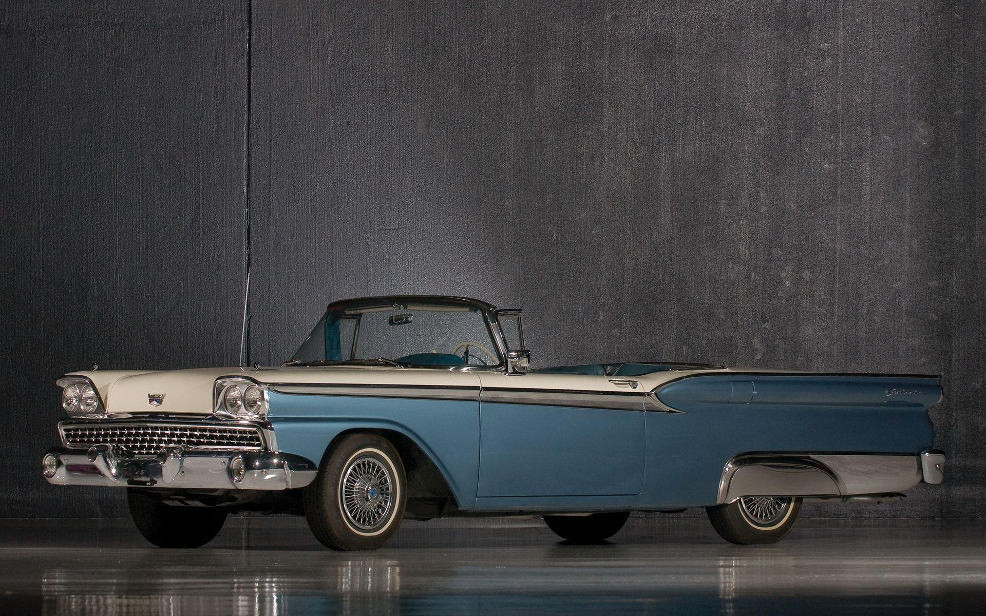 1959 Ford Fairlane 500 Galaxie Skyliner HD Wallpaper | Background ...