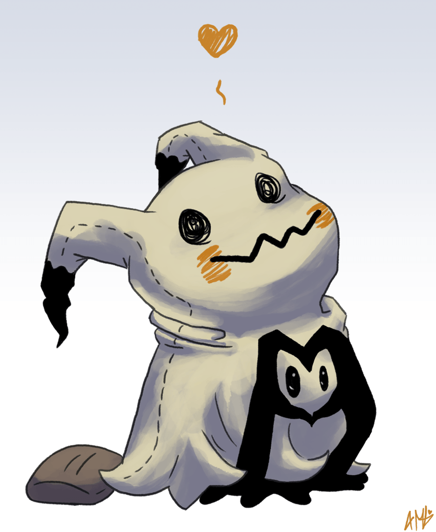 Mimikyu Love by Anoxar on DeviantArt