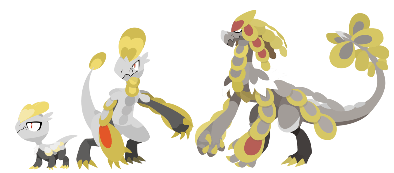 Pokemon Sun and Moon Jangmo-o Evolutions - Vectors by ...