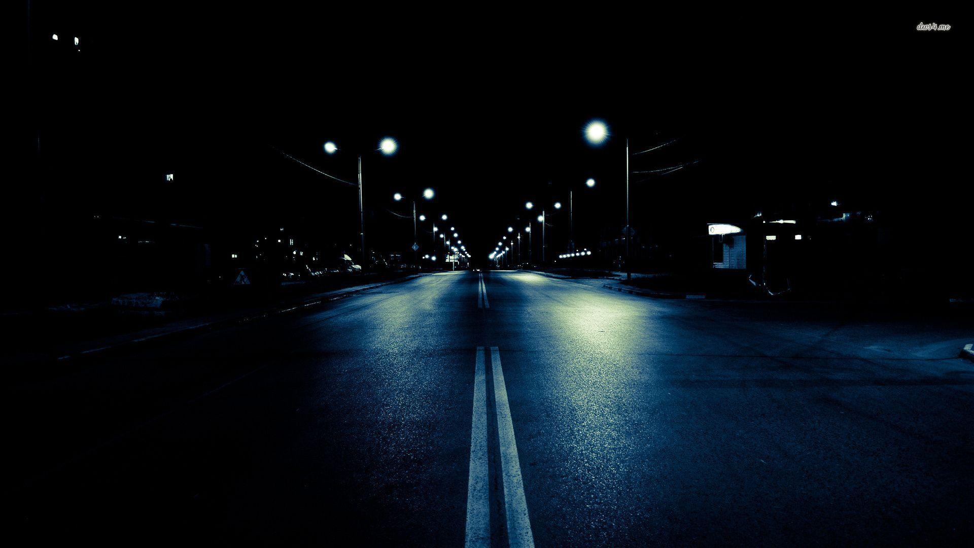 Dark Street At Night HD Wallpaper, Backgrounds Image