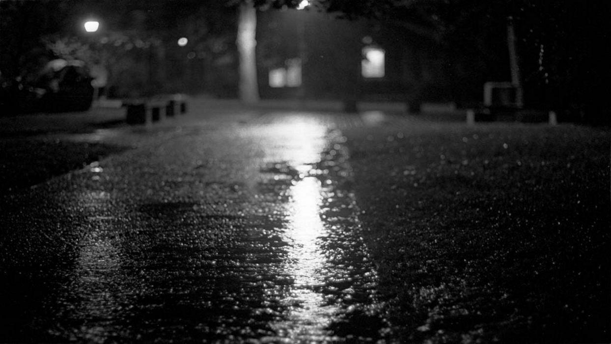 Streets night monochrome wallpapers