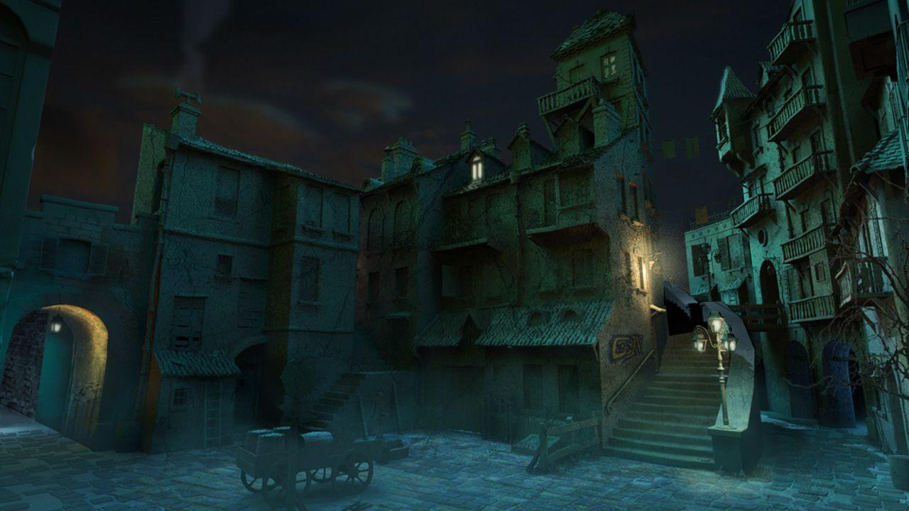 Dark street, 1280 x 720pix wallpapers Mixed Style, 3D Digital Art