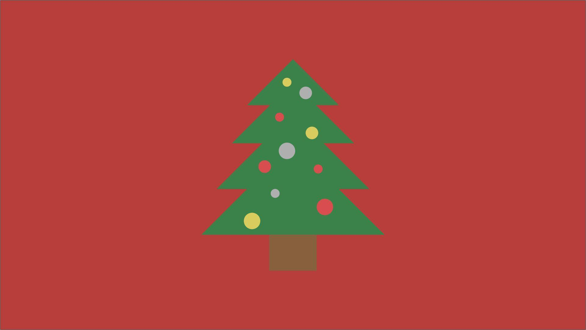 Minimalist Christmas Tree Wallpaper I whipped up quick : wallpapers
