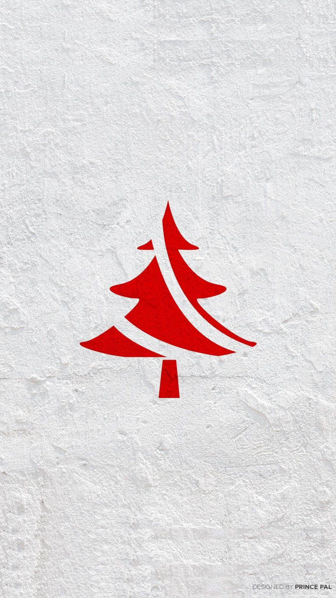 Minimalist Christmas Tree #wallpaper #image #background Artist ...