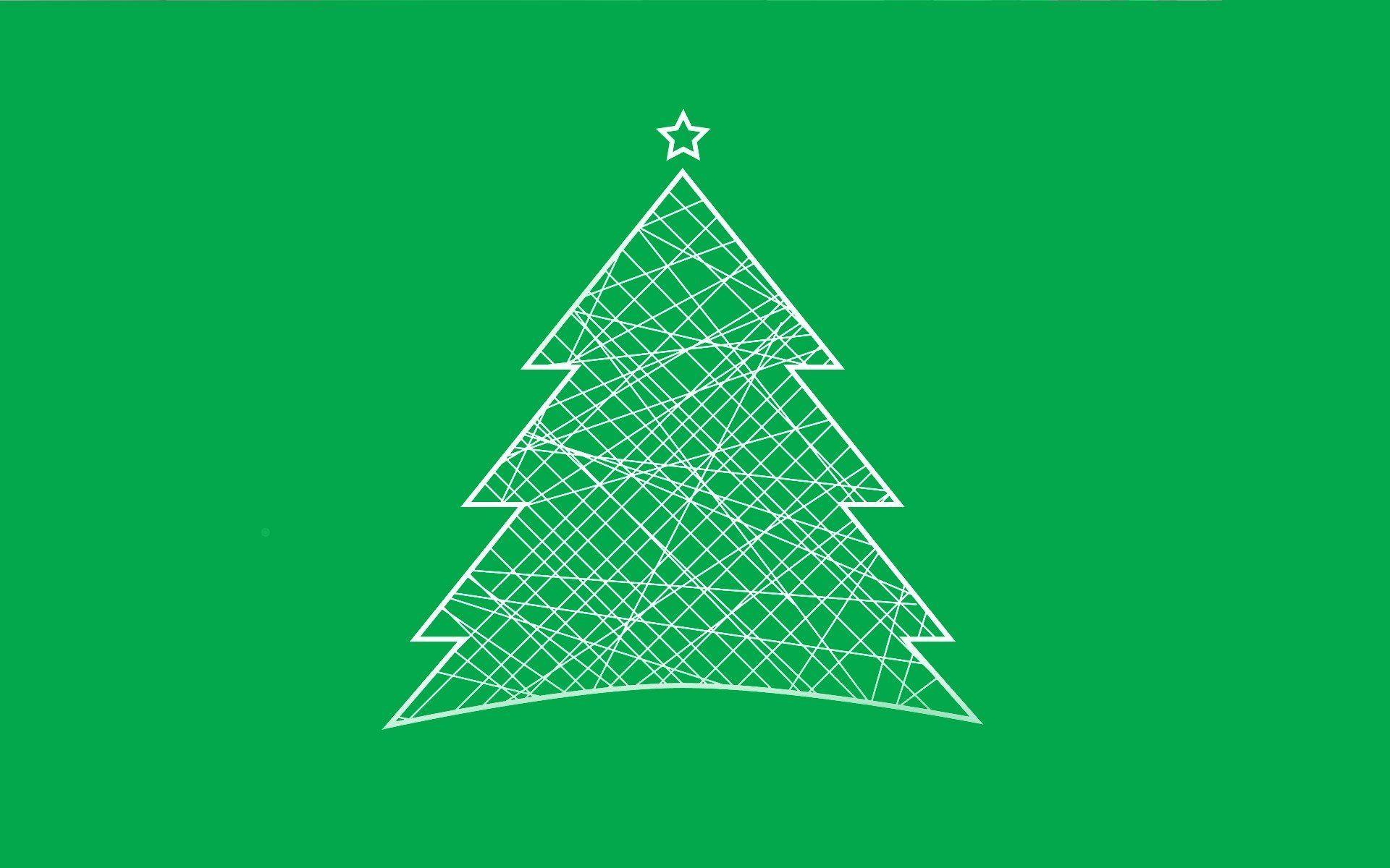 christmas minimalist tree HD wallpaper