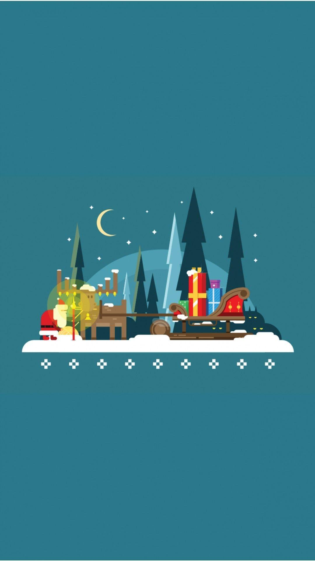 Christmas Vector - Tap to see more cool flat vector minimalist ...