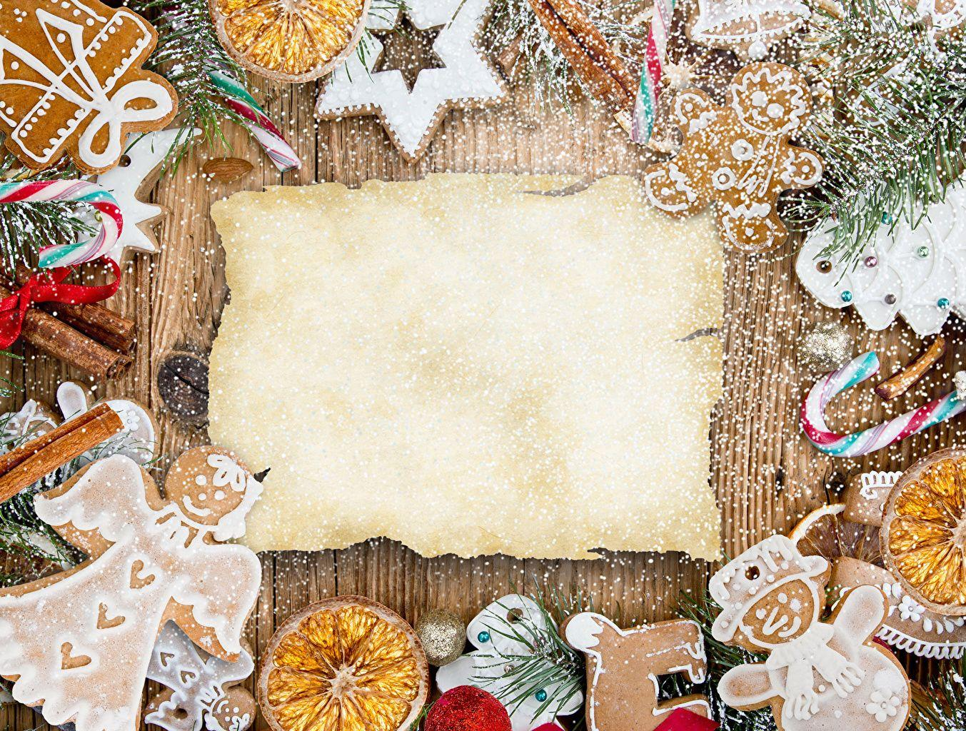 Pictures Christmas Food Cookies Pastry Holidays