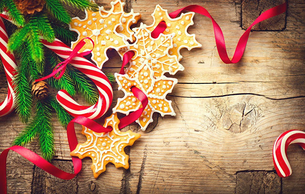 Wallpapers Christmas Candy cane Lollipop Snowflakes Food Cookies