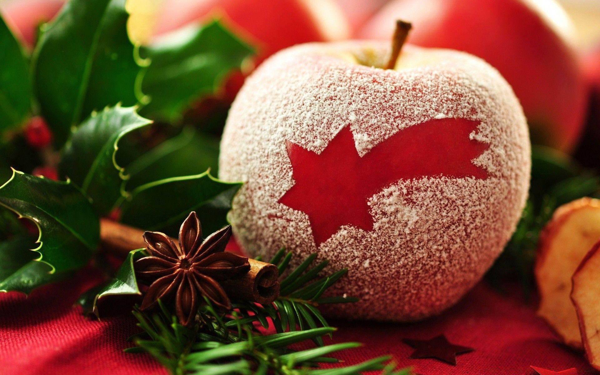 Christmas Apple. Android wallpapers for free.