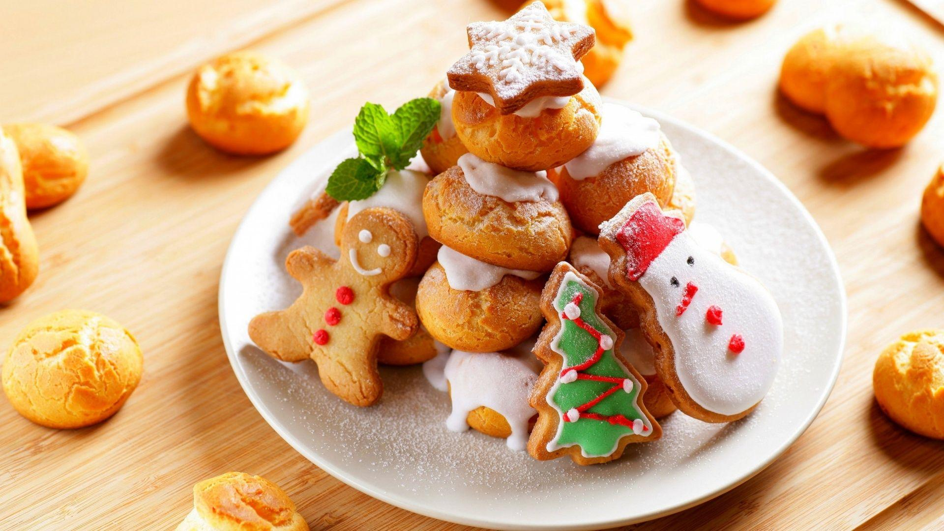 Christmas New Year Cookies Food Wallpapers - 1920x1080 - 592041