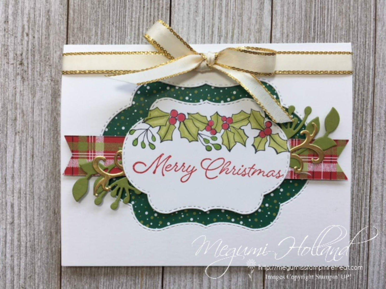 Megumi's Stampin Retreat: Blended Seasons Merry Christmas Card ...