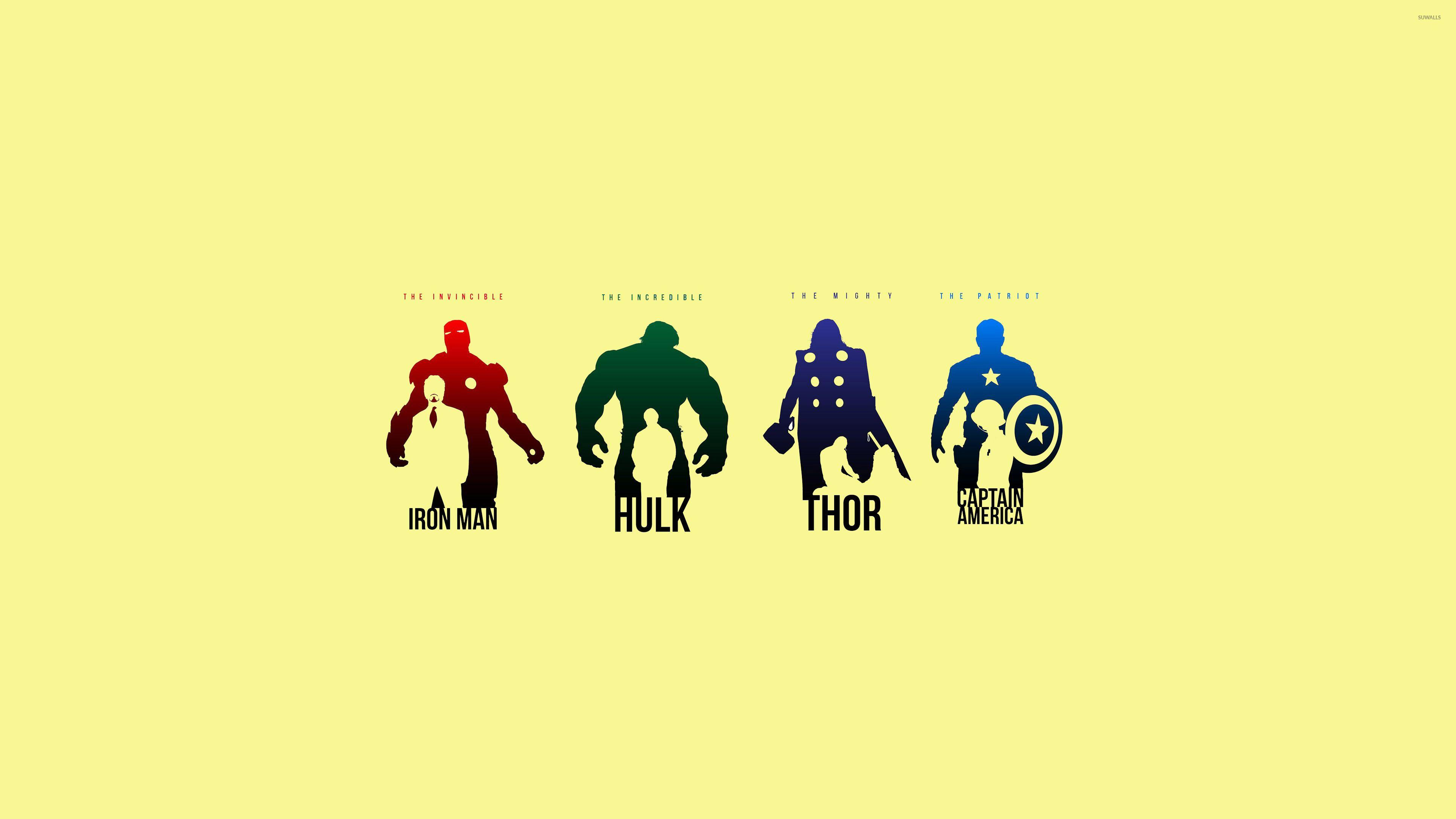 Avengers Minimalist Wallpapers Wallpaper Cave