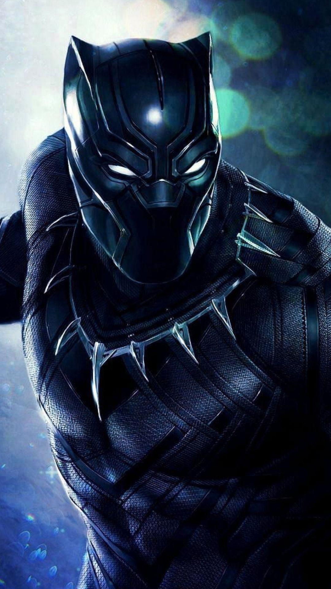 Download 1080x1920 wallpapers black panther, superhero, artwork