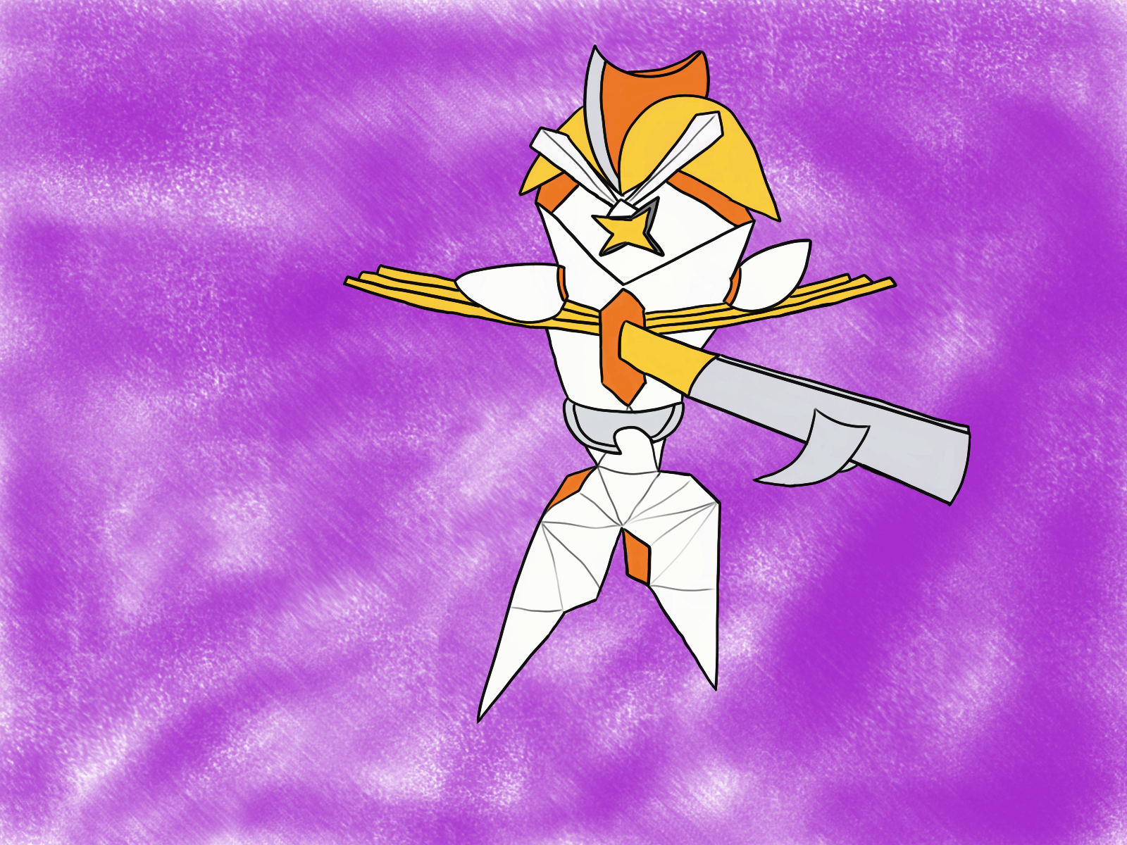 I drew a fusion of Kartana and Bisharp for an art contest. : pokemon