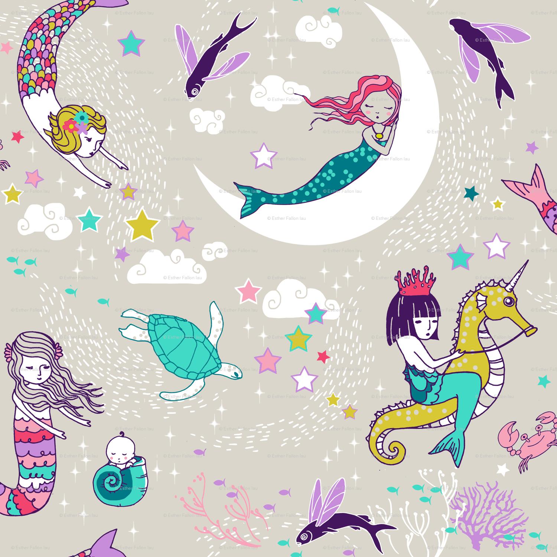 Kawaii Mermaid Wallpap...