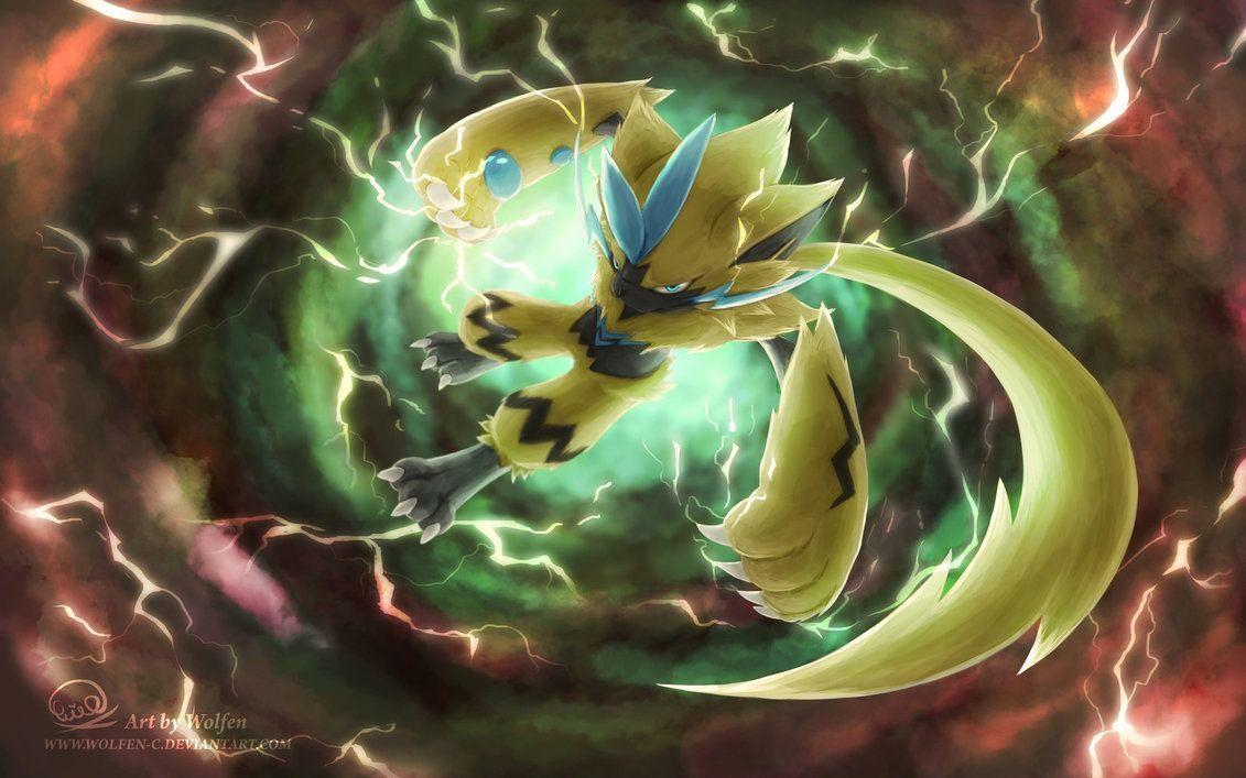 fan art de zeraora, pokemon singular de la septima generacion. ultra ...