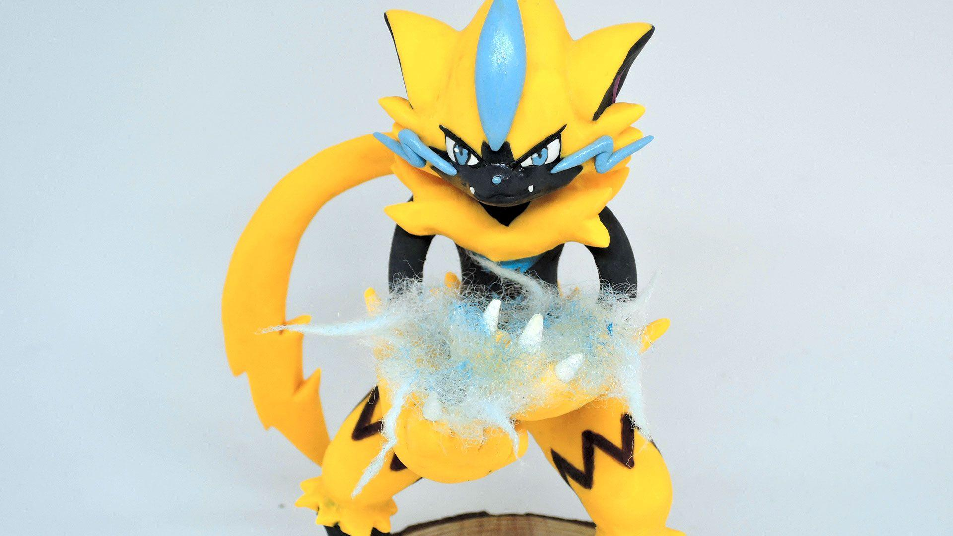 I made Zeraora with sculpey 3. : pokemon