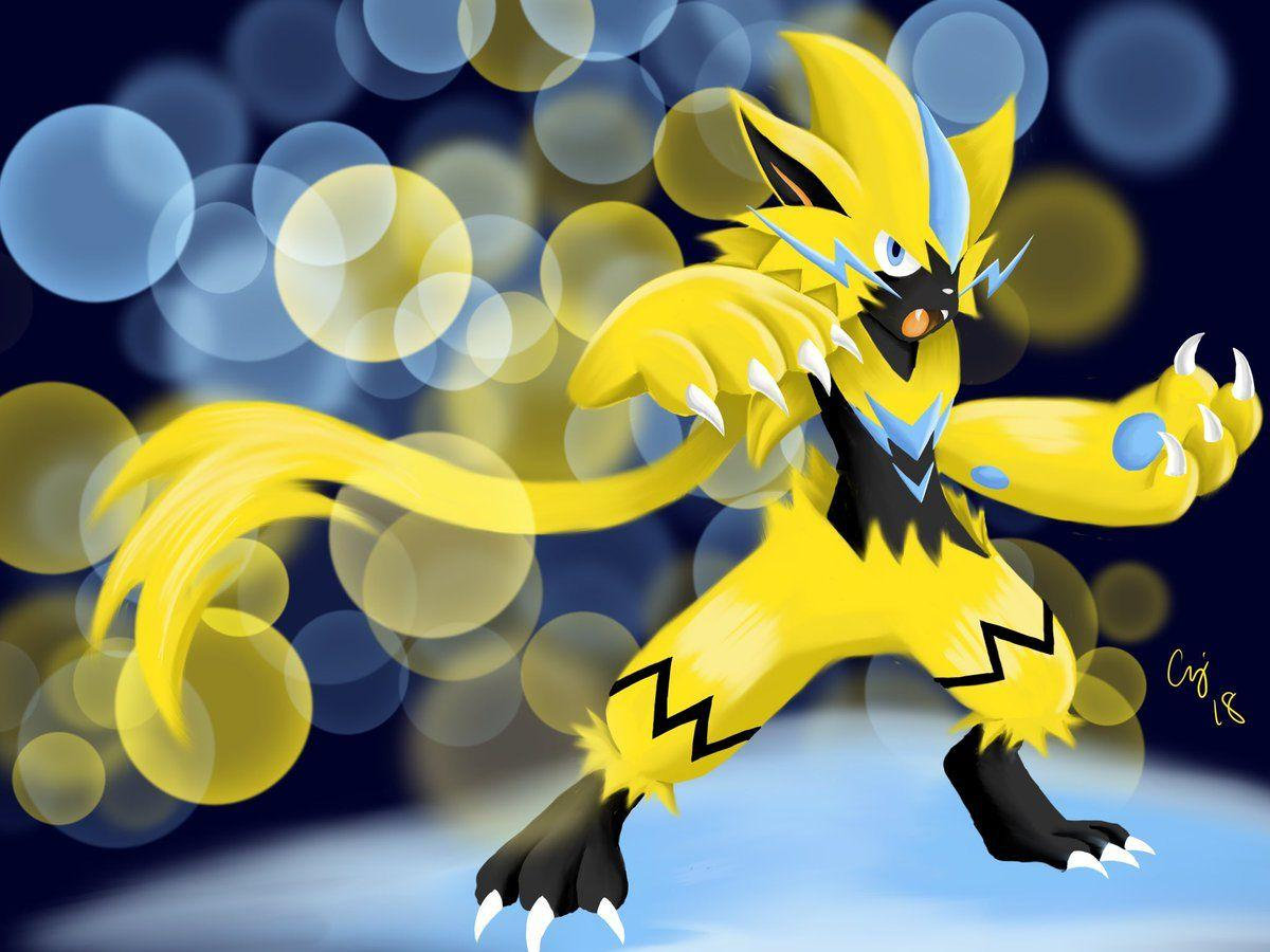 Anthony Jackson on Twitter: The Mythical Zeraora #pokemon #zeraora ...